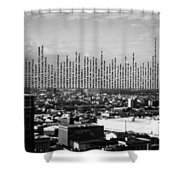 Windows Of The Baltimore World Trade Center Shower Curtain