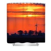 Windpower Sunrise Shower Curtain
