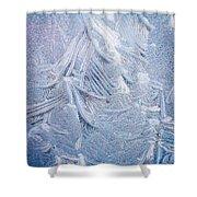 Iced Windshield  Shower Curtain