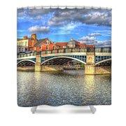 Windsor Bridge River Thames Shower Curtain