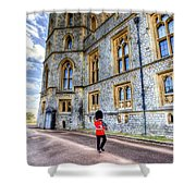 Windsor Castle And Coldstream Guard Shower Curtain