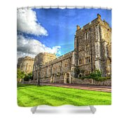 Windsor Castle Architecture Shower Curtain