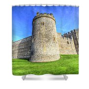 Windsor Castle Battlements  Shower Curtain