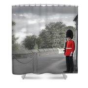 Windsor Castle Guard Shower Curtain by Joe Winkler
