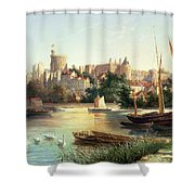 Windsor From The Thames   Shower Curtain by Robert W Marshall