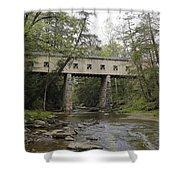 Windsor Mills Covered Bridge 3 Shower Curtain