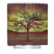 Windstorm At Skaha Lake Shower Curtain