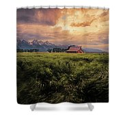 Windstorm On The Prairie Shower Curtain