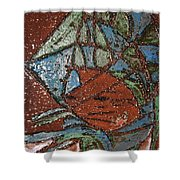 Windstorm Tile Shower Curtain