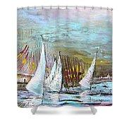 Windsurf Impression 03 Shower Curtain