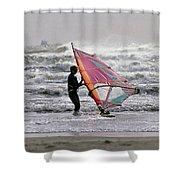 Windsurfer, Aransas Pass, Texas Shower Curtain