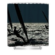 Windsurfing At Cape Hatteras National Shower Curtain