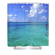Windsurfing The Islands Shower Curtain