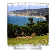 Windswept Over San Francisco Bay Shower Curtain