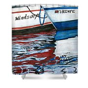 Windswept Reflections Sold Shower Curtain