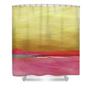 Windswept Sunrise- Art By Linda Woods Shower Curtain