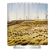 Windswept Tasmania Shower Curtain