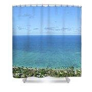 Windward Oahu Panorama II Shower Curtain
