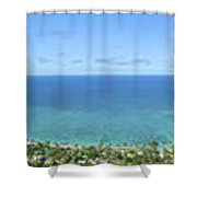 Windward Oahu Panoramic Shower Curtain by David Cornwell/First Light Pictures, Inc - Printscapes