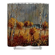 Windy Autumn Landscape  Shower Curtain