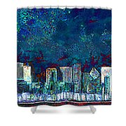 Windy Chicago Illinois Skyline Party Nights 20180516 Shower Curtain