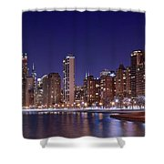 Windy City Lakefront Shower Curtain