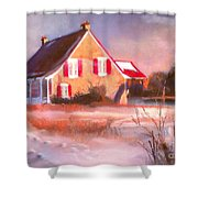 Windy Cold Sunny Day Shower Curtain