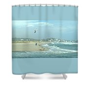 Windy Day At Good Harbor Beach Shower Curtain
