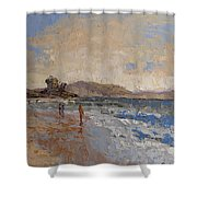 Windy Day At Sea Shower Curtain