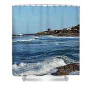 Windy Day At Yachats Shower Curtain