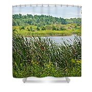 Windy Day In Campground In Saginaw-minnesota Shower Curtain