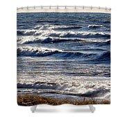 Windy Spring Lake Huron Shower Curtain