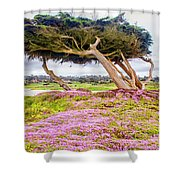 Windy Tree Shower Curtain