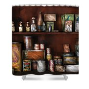 Wine - Rum And Tobacco Shower Curtain by Mike Savad
