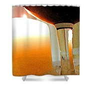 Wine And Candle Shower Curtain