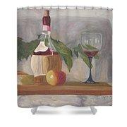 Italian Wine And Cheese Shower Curtain