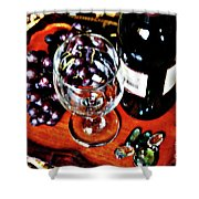 Wine And Dine Shower Curtain