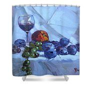 Wine And Fresh Fruits Shower Curtain