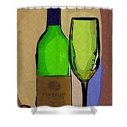 Wine And Glass Shower Curtain