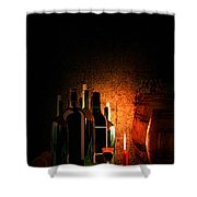 Wine And Leisure Shower Curtain by Lourry Legarde