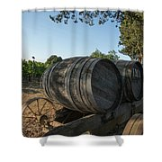 Wine Barrels At Vineyard Shower Curtain