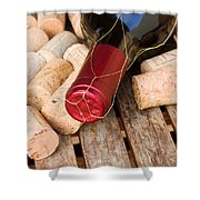 Wine Bottle And Corks Shower Curtain