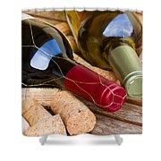 Wine Bottles Shower Curtain