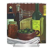 Wine Bottles And Jars Shower Curtain