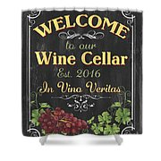 Wine Cellar Sign 1 Shower Curtain