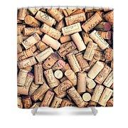 Wine Corks Shower Curtain
