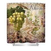 Wine Country Rhone Shower Curtain