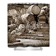 Wine Country Sepia Vignette Shower Curtain