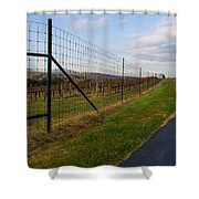 Wine Fields Shower Curtain