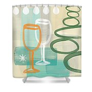Wine For Two Shower Curtain